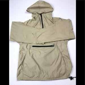 Jackets & Blazers - Vintage LL Bean Stowaway Beige Hooded Rain Jacked